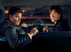 sam_and_dean_in_the_impala____by_scheherazadeshorcrux-d6ja6ul